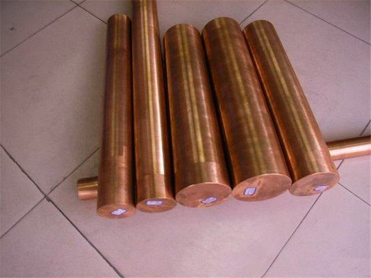 Industrial Round Shaped Copper Products , Big Diameter Red Copper Bar